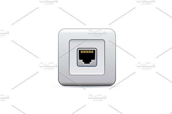 Network socket icon Graphics Network ethernet port. Symbol of access. Vector Illustration**Contents:**- **EPS** file included by freebird