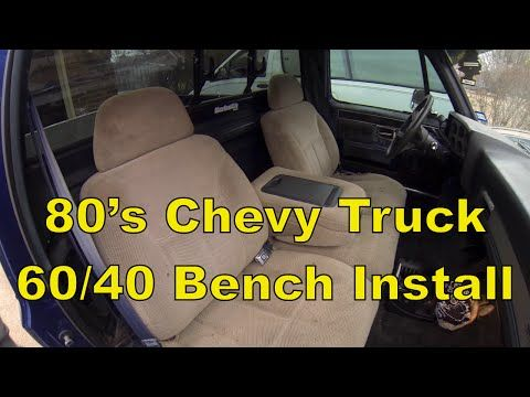 67 72 Chevy Truck Forum >> C10 Chevy Truck Install a Split 60/40 Bench Seat, 73-87 C10 R10 - YouTube | 1986 Chevy Truck 4x4 ...