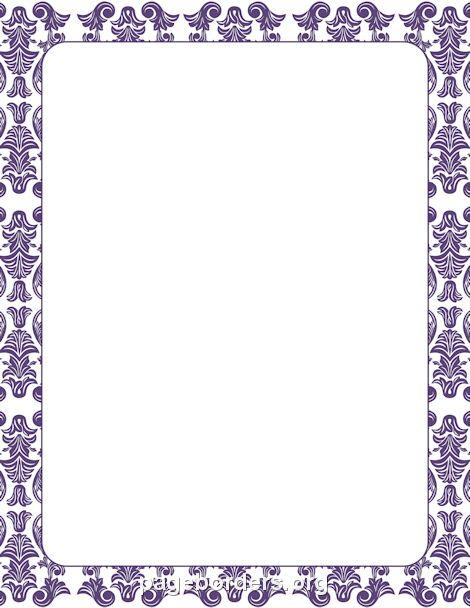 Purple Damask Border