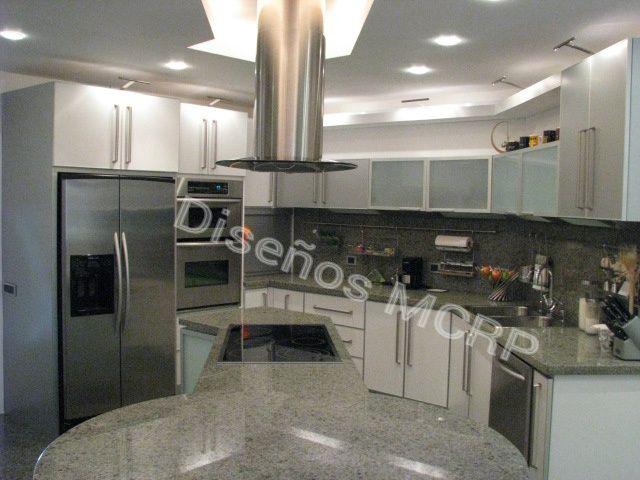 Cocina de dise o acabado laminado decorativo blanco y for Accesorios de cocina de diseno