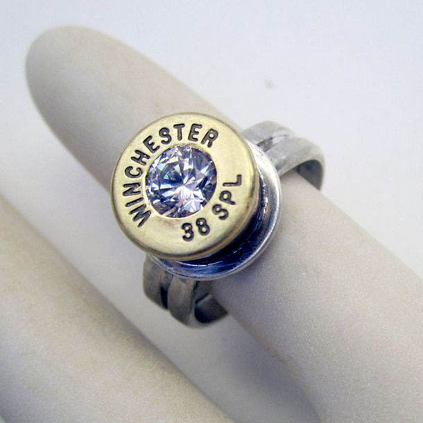 Winchester 38 Special Bullet Ring Sterling Silver Backed How About