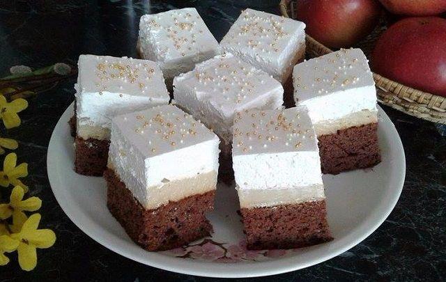 Káprázatos sütemény, amivel képtelenség betelni! Ünnepi alkalmakra is remek választás, mert remekül mutat és nagyon finom! Kóstold meg bátran! Hozzávalók Tésztához 20 dkg liszt 15 dkg cukor 2 tojás 1 ek szódabikarbóna 2,5 dl kefir 4 e..k. étolaj 1 ek kakaópor csipet só Krémhez 7,5 dl tej 2,5 cs vaníliás pudingpor 25 dkg mascarpone 20 …