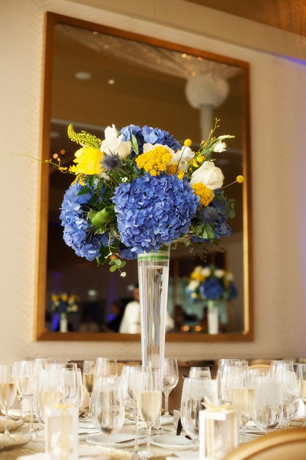 Best yellow flower centerpieces ideas on pinterest