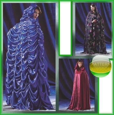 McCalls 4624 Gothic Lilly Munster Wicca Cloak/Cape Patterns