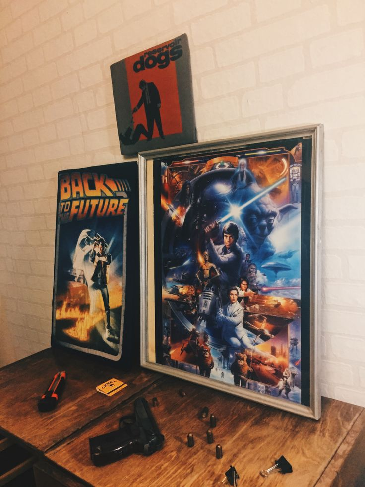 Reservoir dogs,Star Wars,and back to the future posters (DIY)