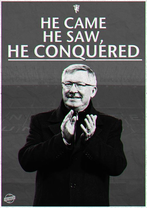 (4) Football | Tumblrb Sir ALEX FERGUSON The impossible dream, made possible.