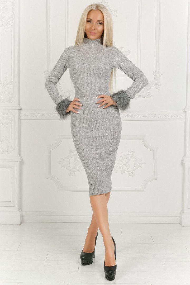 fe2a12ff Модное платье / ангора / Украина 40-1519 | Платья | Платья, Модные платья,  Одежда