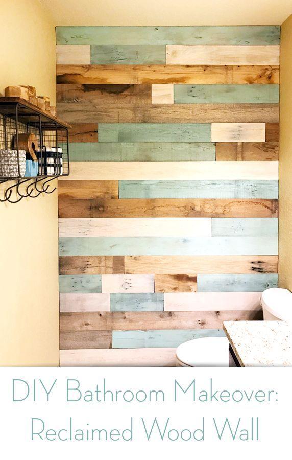 Super Einfach Diy Badezimmer Makeover Mit Einer Wunderschonen Wand