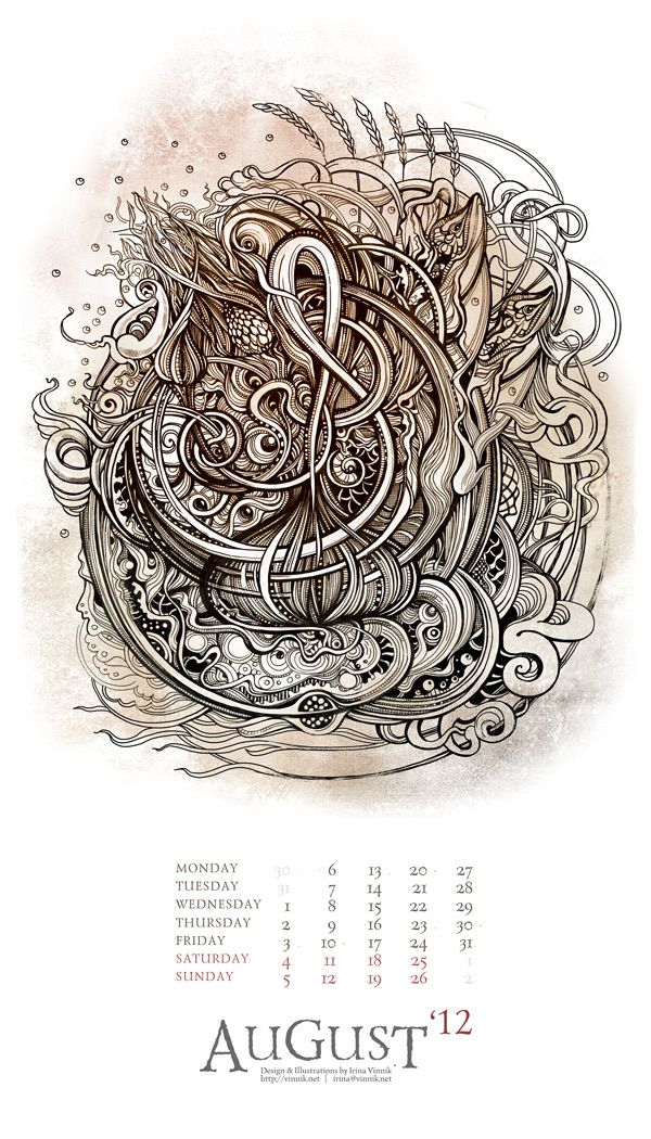 Bestiarium 2014 calender features fantasy beasts and monsters from mythological times