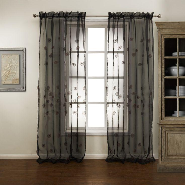 47 best images about sheer curtains on pinterest valance. Black Bedroom Furniture Sets. Home Design Ideas