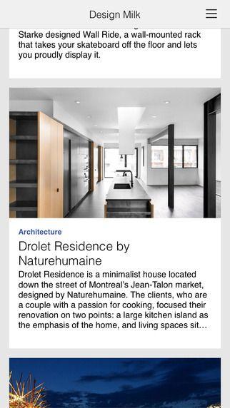 Design Milk dWNLD, Inc. 제작 디자인 블로그 컨텐츠 매일매일 보기