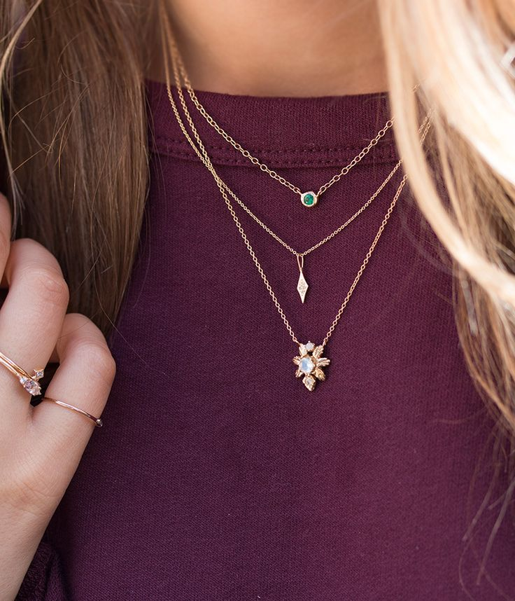 Tiny Frosted Necklace - Audry Rose