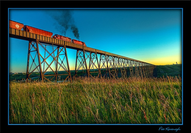 High Level Bridge in Lethbridge, Alberta, Canada