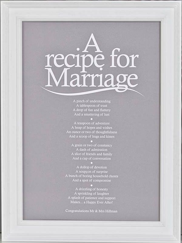 recipe perfect wedding cake poem marriage poem print in 2019 s wedding marriage 19045