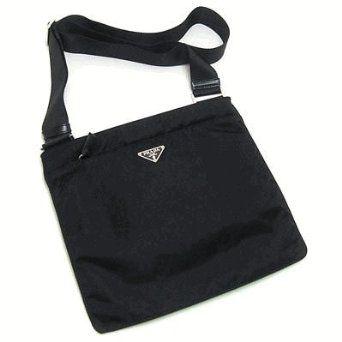 Prada BT0175 Messenger Bag in Black Vela Nylon, | purses ...