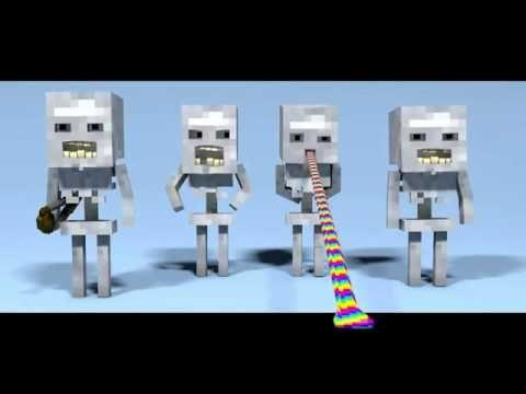 Minecraft поёт хор скелетов .Приколы майнкрафт