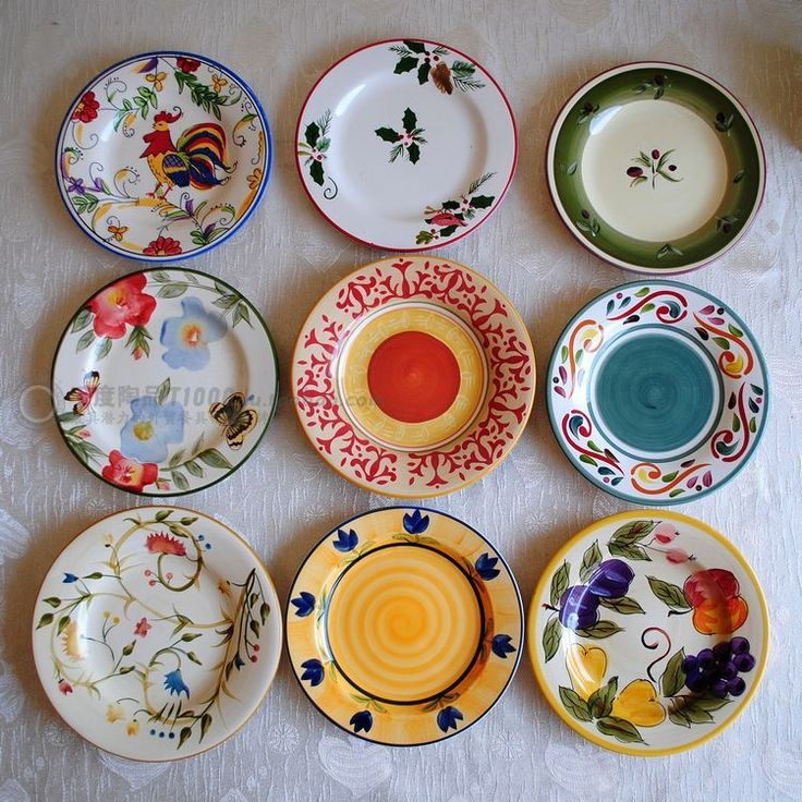 30 best images about painted pottery on pinterest for How to decorate a ceramic plate