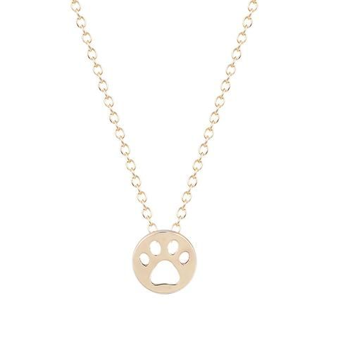 New Trendy Tassut Print Animal Necklace Women Lovely Cat And Pug Dog Paw Pendant Long Cute Delicate Statement Necklace - Zonamya Stores