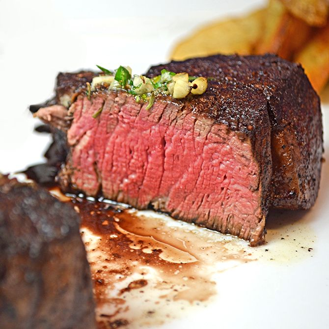 Filet Mignon with Herbed Butter and a Zinfandel Reduction   Host The Toast Blog
