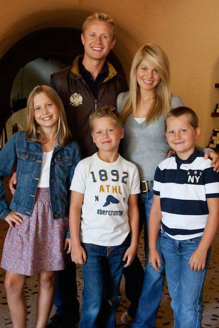 Candace Cameron Bure and Valeri Bure with family...