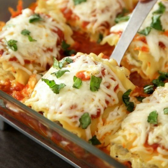 These Lasagna Roll Ups are made with grated zucchini for a delicious meal that's healthy and easy to make