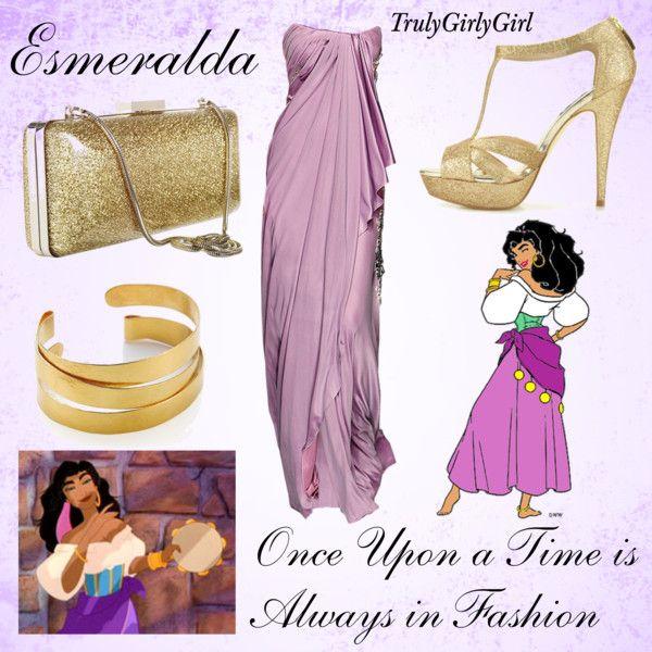 Disney Style: Esmeralda, created by trulygirlygirl on Polyvore
