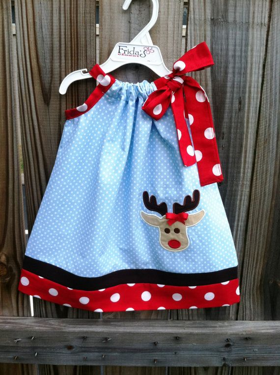 Cute Christmas pillowcase dress