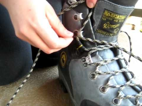 Hiking Boots Lacing Technique: Prevent Heel Slippage Blisters.