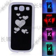 Väriä vaihtava sydän LED-suojakuori, Samsung Galaxy S3