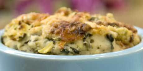 Janet and Greta's Hearty-Choke Dip (Artichoke Dip) . 143 calories for 1/3 cup serving