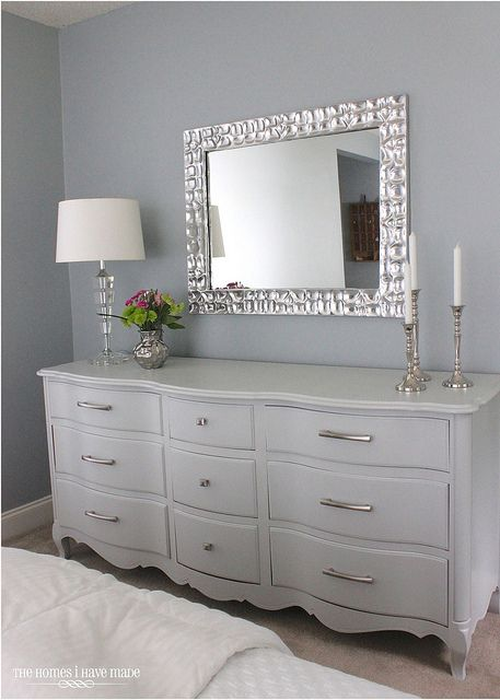 A Modern French Provincial Grey Dresserfrench