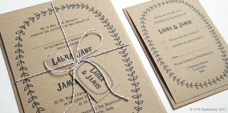 Country Fair Personalised Wedding Invitation SAMPLE