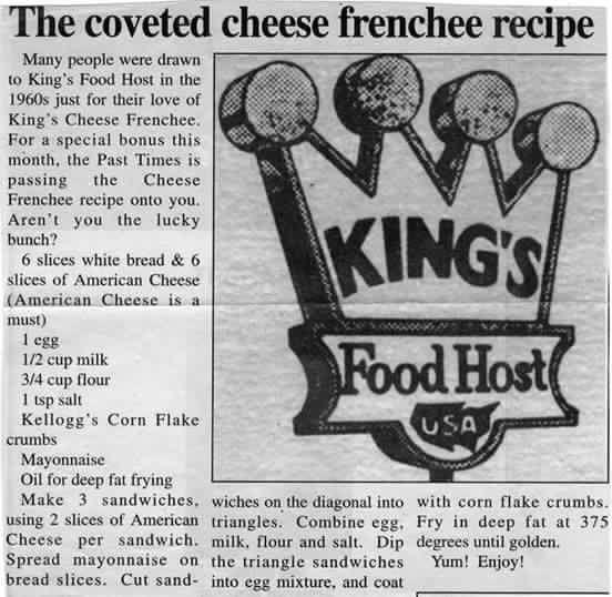 Kings Food Host Hamburger Recipe