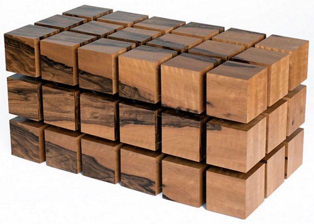 Wohnzimmertisch Holz  Designer Couchtisch   Nussbaum, Buche, Eiche