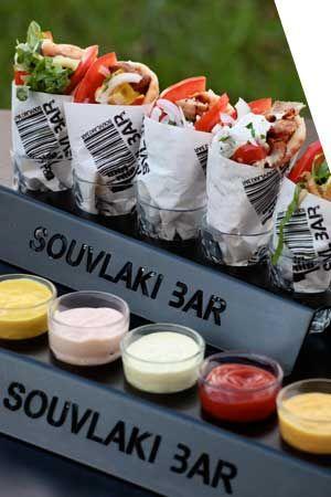 love the idea of the souclaki bar! Kefalonian greek weddding