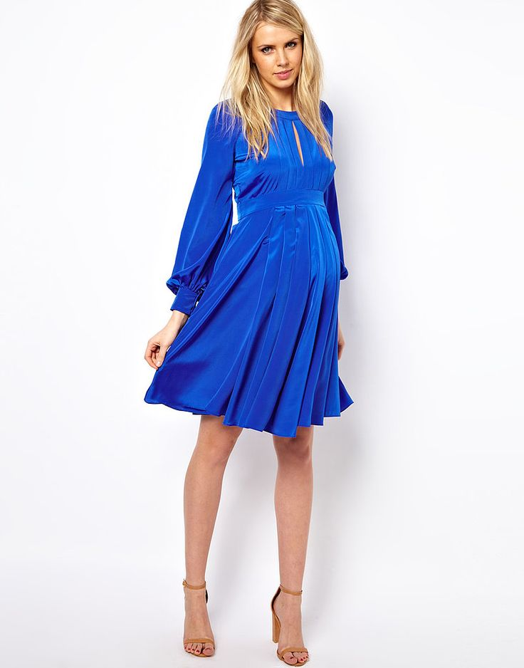 We love the easy style of ASOS's bell-sleeve dress ($59), a great option for mamas who don't want to bare t...