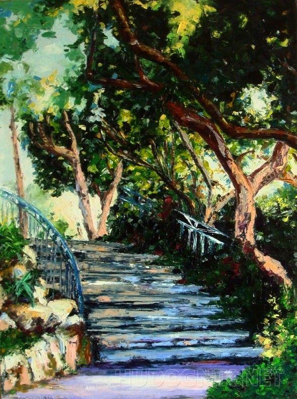 Старая лестница мастихин