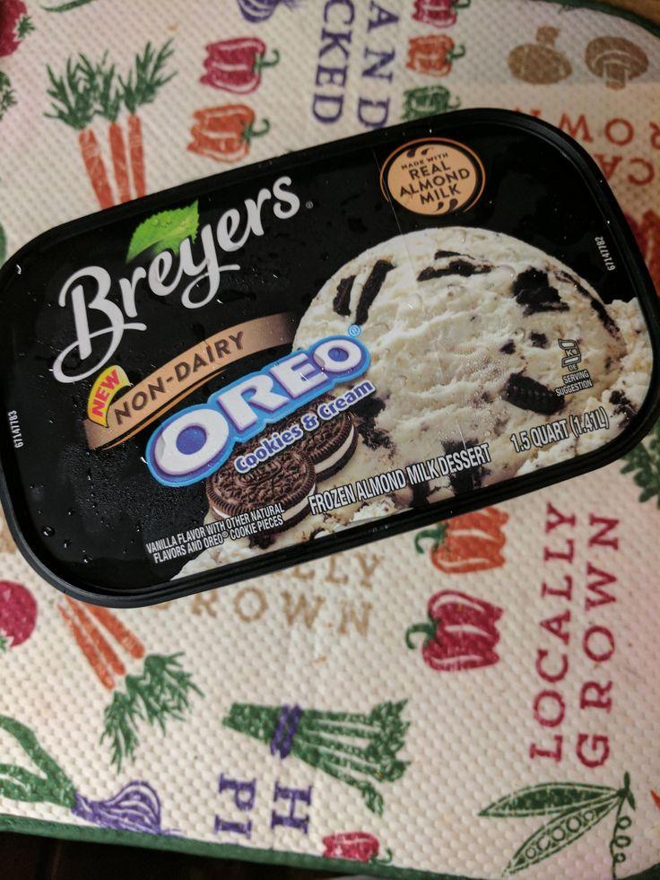 They have almond milk breyers ice cream!!