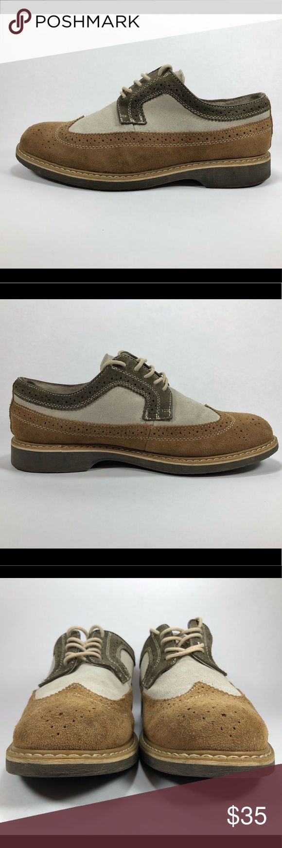 G.H. Bass Tan Pearsons Suede Wing Tip Lace Oxfords Good Condition Normal Wear Including Scuffing See Picture For Details. G.H. Bass Mens Sz 7.5D Tan Pearsons Suede Wing Tip Lace Oxfords. S271 Bass Shoes Oxfords & Derbys
