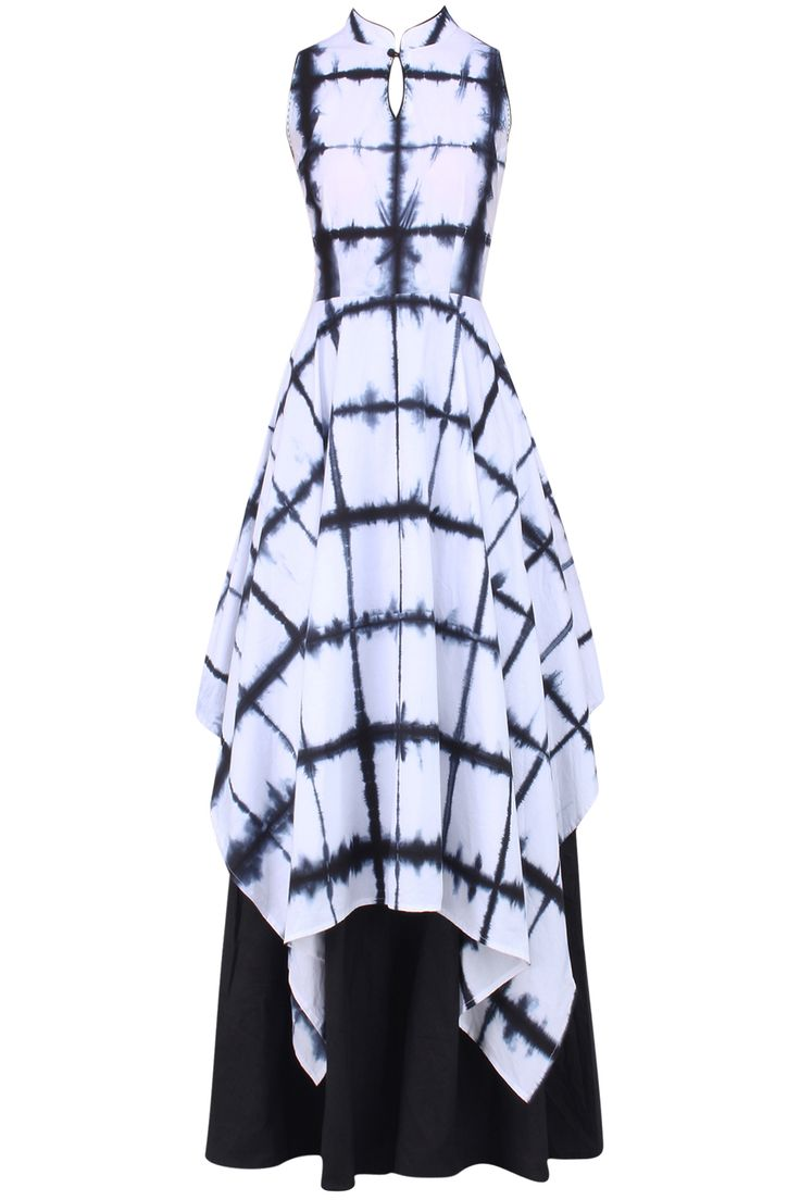 Black and white tie and dye layered dress available only at Pernia's Pop Up Shop.