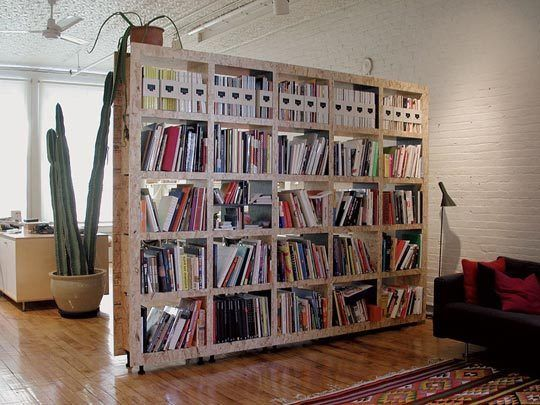 A Clever Room Divider Would Solve Our Lack Of Bookshelves As Well As