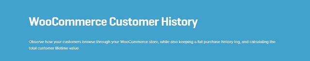 WooCommerce plugins: WooCommerce Customer History Extension 1.1.1 Downl...