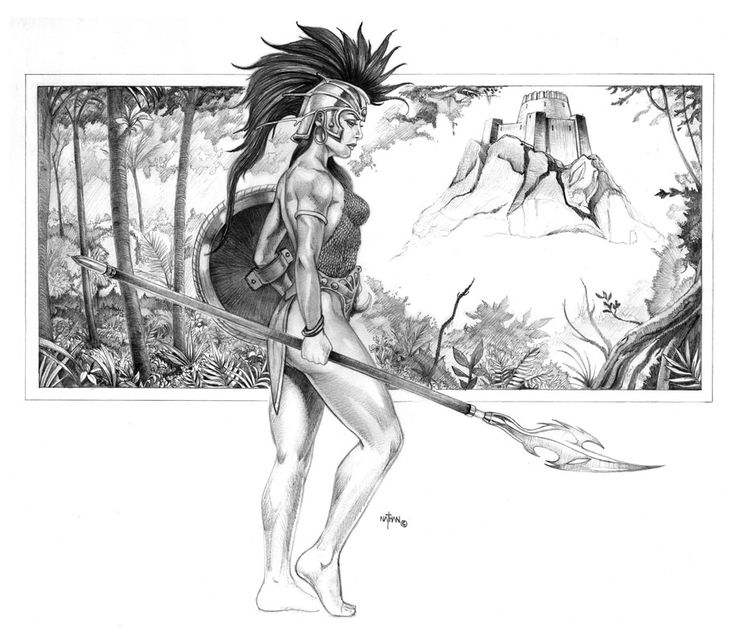 ☆ Amazon Warrior :¦: By Artist Nathan Rosario ☆