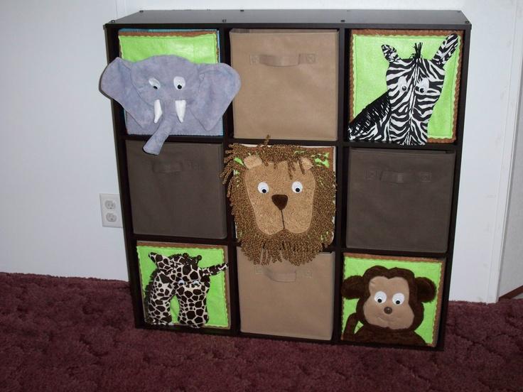 jungle room fabric drawers