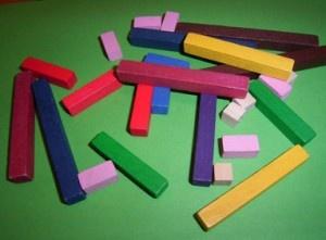 Primer contacto con números de colores