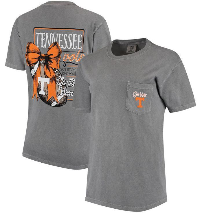 Tennessee Volunteers Women's Comfort Colors Football Saturdays Oversized Pocket T-Shirt - Gray