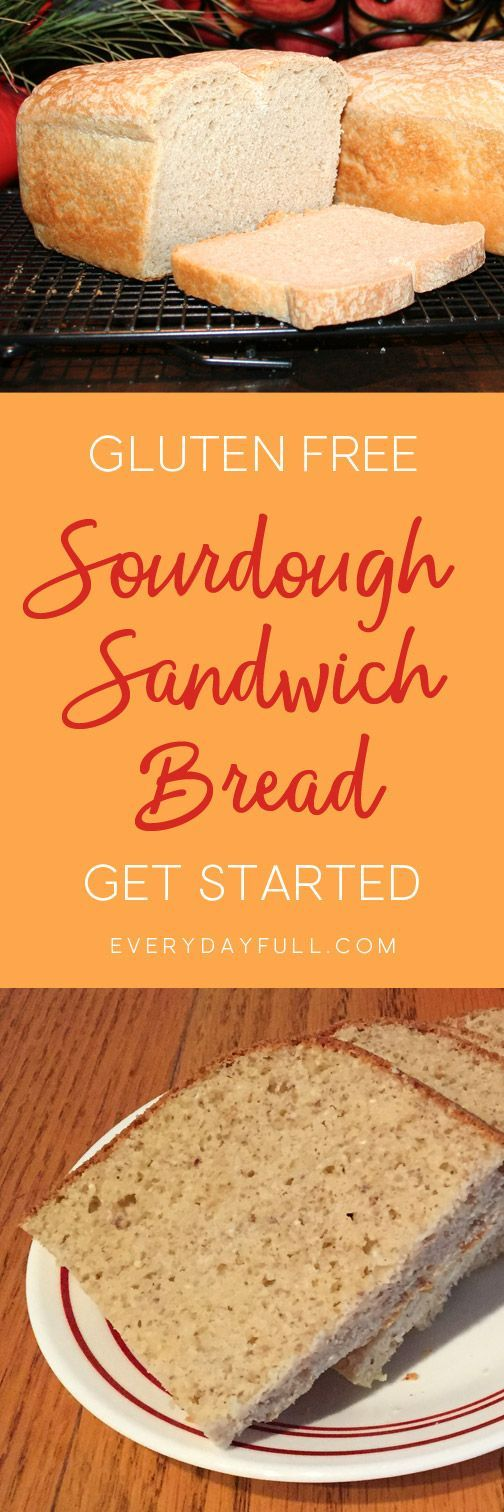 GLUTEN FREE SOURDOUGH SANDWICH BREAD - Forget those expensive store bought gluten-free breads, this recipe actually holds together for a sandwich! Follow our tutorial for slicing your bread and you'll be enjoying delicious gluten-free sandwiches in no time.