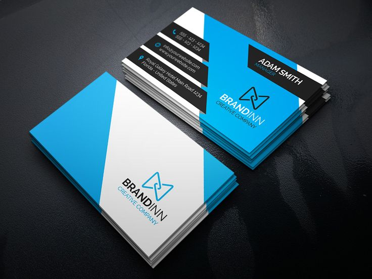 132 best business cards images on pinterest name cards blue business card template reheart Image collections