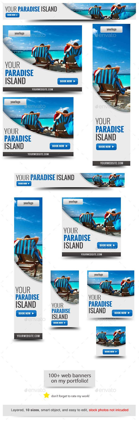 Your Paradise Web Banner Template PSD | Download: http://graphicriver.net/item/your-paradise-web-banner-template/10150083?ref=ksioks