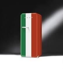 Smeg refridgerator in Italian flag